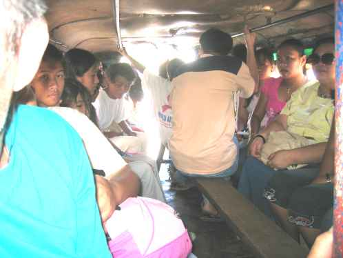 There is always a bit of space even in a full jeepney.