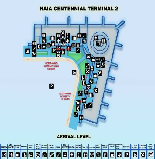 Click to enlarge NAIA-2 Arrival map in a new tab