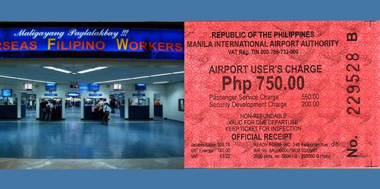 Philippines Terminal Fee
