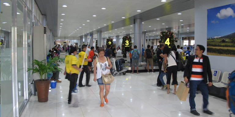 Few traffic in Domestic Terminal