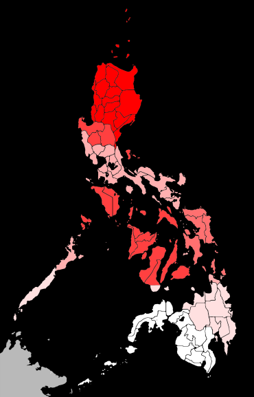 Philippines typhoons by region