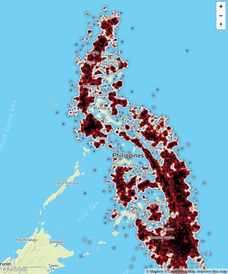 This had been the earthquake map end of 2018