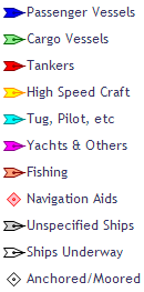 Ship classes on map