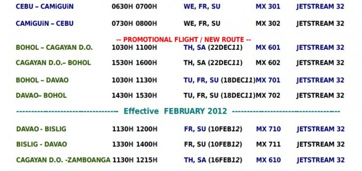 Mid-Sea Express Schedules