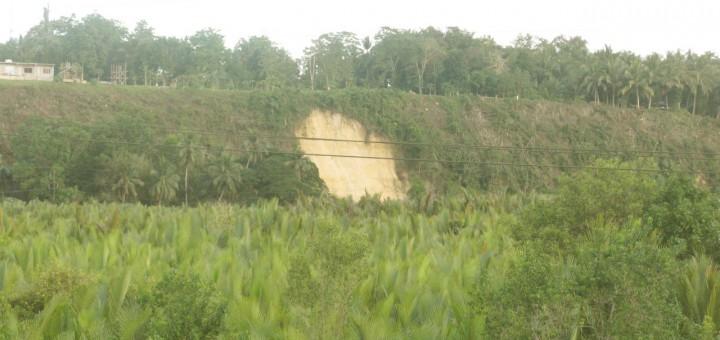 Landslide in Cortes, Bohol