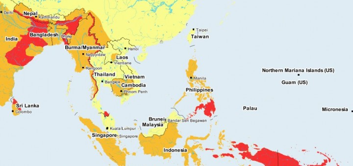 Risk Map South East Asia