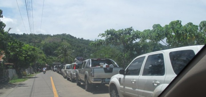 Camiguin Panaad 2014 - Traffic Jam