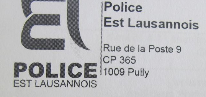Swiss Police Lausanne