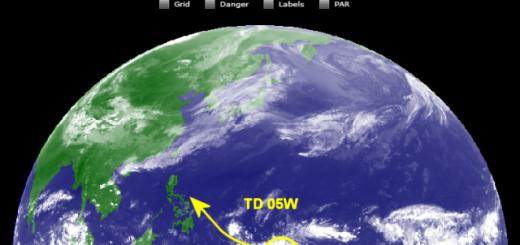 TD 05W on 2014-04-03