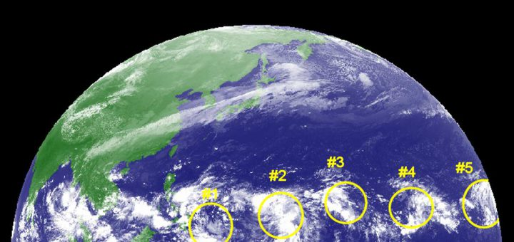 Five Low Pressure Areas