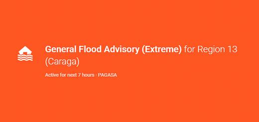 PAGASA Flood Advisory