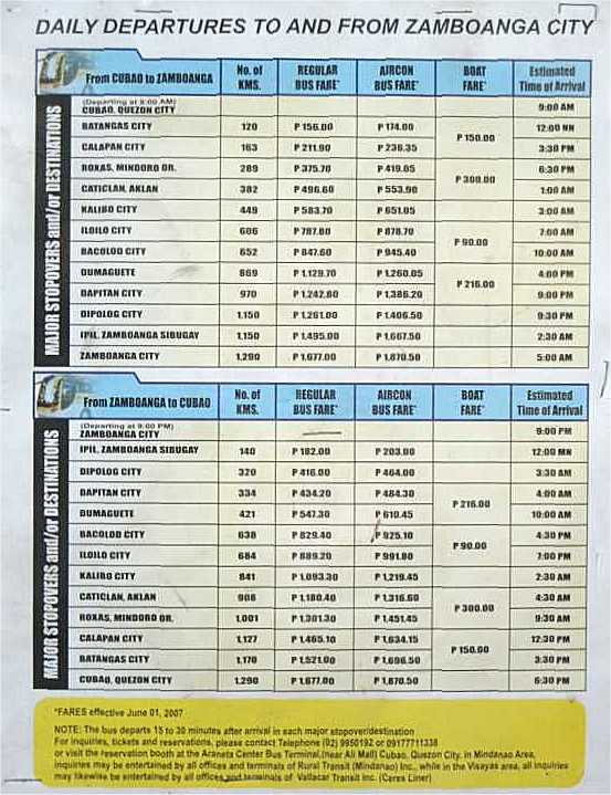 Bus Travel Philippines  Fare Calculator  Trip Calculator