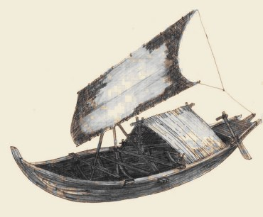 A balangay, the first known ships in the Philippines (courtesy of www.balangay-voyage.com)