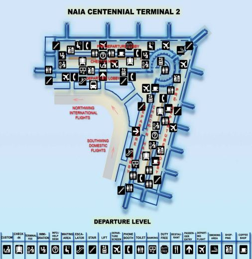 Click to enlarge NAIA-2 Departure map a in new tab