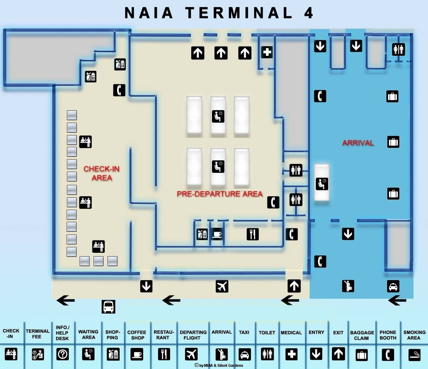 Manila Airport Map on