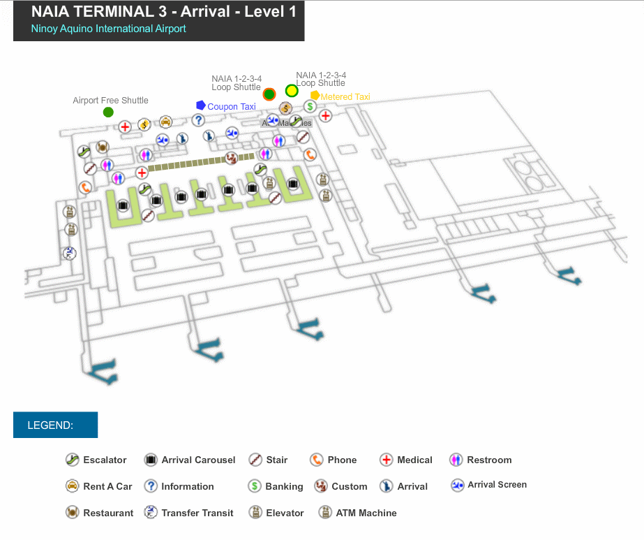 Manila Domestic Airport Map Manila Airport Maps