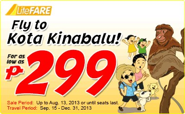 Cebu Pacific Air promo for a 'Visa-Run'