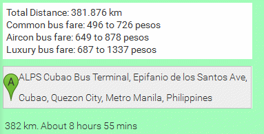 Bus fare calculation
